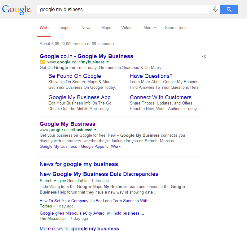 how to add keywords to google my business